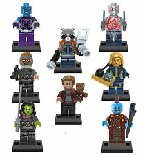 Guardians of the Galaxy Marvel GOTG Movie 8 Minifigures set building Toys lEGO