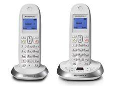 Schnurloses Telefon analog Motorola C2012 Anrufbeantworter weiß + B-Ware +
