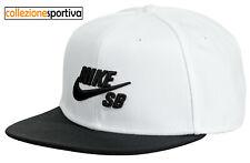 best sneakers 7df47 dfc18 Nuova inserzioneCAPPELLINO CAPPELLO NIKE SB ICON PRO SNAPBACK - 628683-104  col.bianco nero