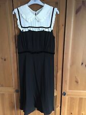 Orla Kiely Black Velvet Trim Flora Sleeveless Dress size 2/ UK 10