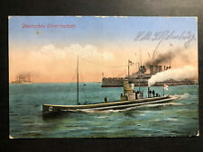 1915 Marine Feldpost Germany Picture Postcard Cover The German U Boat Submarines