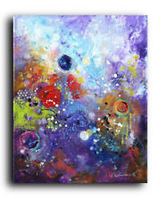 24x30 XL ORIGINAL PAINTING Acrylic Canvas Abstract Modern Contemporary Purple