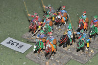 25mm renaissance / cossack - cavalry 10 figures metal painted - cav (8693)