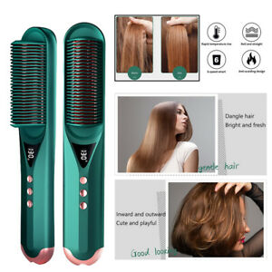 Dual-purpose Anion Curling Iron straightener hair Comb PTC Heating technology UK