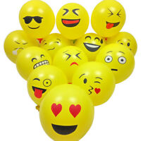 "50PCS 12"" Latex Emoji Smiley Face Balloons Birthday Party Wedding Decor Supplies"