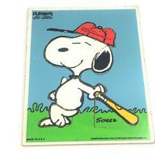 Vintage Snoopy PLAYSKOOL Tray Puzzle 230-17 preschool 6 piece Snoopy Superstar