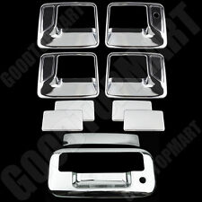 FOR FORD 08-16 F-250/350 SPR DUTY Chrome 4DRS Handle w/PSKH+Tailgate Cover w/kH
