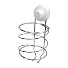 Evelyne Stainless Steel Wire Rack Holder for Hair Dryer with Suction Cup
