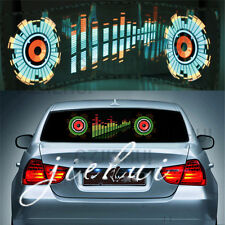 90x25CM Car Music Rhythm LED Flash Light Sticker Sound Activated Equalizer JT11
