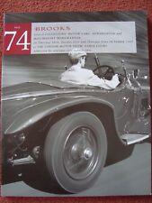 Brooks Car Auction Catalogue No 74 16/21/23 October 1997 - London Motor Show