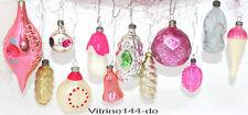 CHRISTBAUMSCHMUCK Konvolut-12Stck alte farbige Glasornamente - Haus, Uhr  # 19