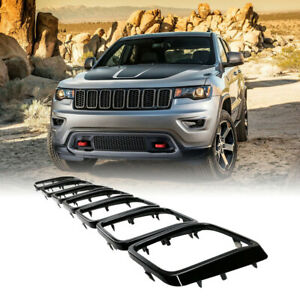 Fits 2017-2020 Jeep Grand Cherokee Black Front Grille Insert Rings-Accessories