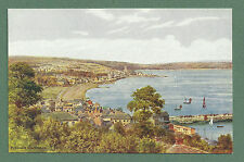 C1930'S A. R. QUINTON POSTCARD - PENZANCE, FROM NEWLYN, CORNWALL