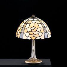 Honsel Tiffany Tischleuchte Moda 1-flg Altmessing Höhe: 35 cm Glas ø 25 cm NEU