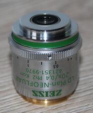 Zeiss Mikroskop Microscope Objektiv LD Plan-NEOFLUAR 20x/0,4 Ph2 Korr (421351)