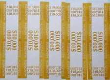 25 - Mustard $100 Self-Sealing Currency Bands $10,000 Cash Money Straps Hundreds