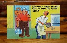 Vintage Ice Truck Man Suggestive Joke Funny Postcard - Excellent Condition!