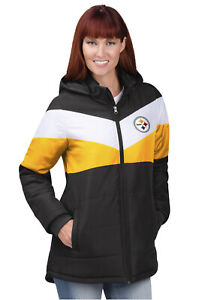 NEW Poly Fill Jacket Cold Front PITTSBURGH STEELERS FAN WEAR Women's Size Small