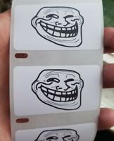 TROLL FACE MEME 25-1000 Pack Stickers Gag prank sticker decal meme