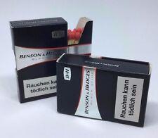 2x Streichholzschachtel Benson & Hedges black slide * B & H