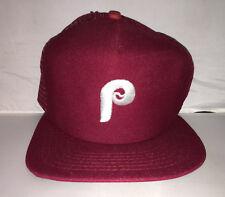 Vtg Philadelphia Phillies New Era Snapback hat cap rare 80s MLB Baseball schmidt