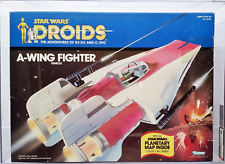1985 STAR WARS DROIDS A-WING FIGHTER AFA 85 NM+!  SUPER RARE!  BEAUTIFUL MIMSB!