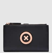 MIMCO SUPER DUO LARGE WALLET BLACK ROSE GOLD Leather Authentic BNWT RRP199