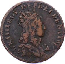 O2846 RARE R2 Liard de France Louis XIV 1657 R Nimes ->Make offer
