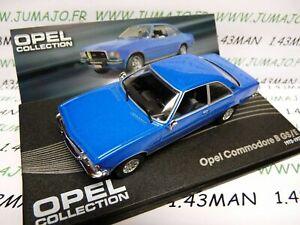 OPE38 voiture 1/43 IXO OPEL collection : COMMODORE B GS/E 1972/1977 bleu