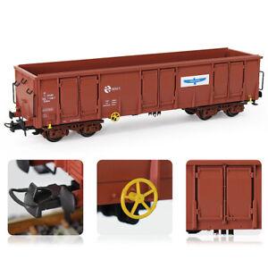 2pcs HO Scale Open Gondola Car 1:87 Printed Railway Wagon Carriage Freight Car
