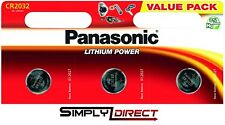 3 x Panasonic CR2032 3V Lithium Coin Cell Battery DL/BR 2032 Car Key Fobs Remote