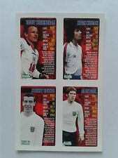 Mirror Top Trumps Cards England Legends Sheringham, Keegan, Haynes, Ball