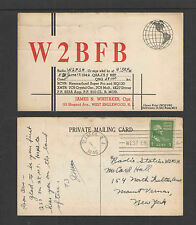 1946 W2BFB QSL CARD USED WEST ENGLEWOOD NJ USA