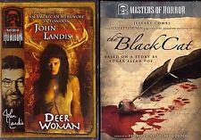 Masters of Horror LOT OF 2  The Black Cat AND John Landis: Deer Woman