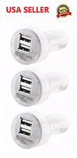 3X Dual USB Car Charger 2.1 Amp High Speed Fast For Phone iPhone Samsung HTC LG