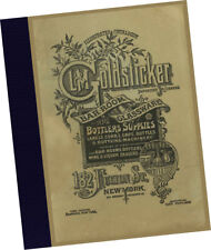 L M Goldsticker 1890 Illustrated Catalogue Bar Room Glassware Bottlers Supplies