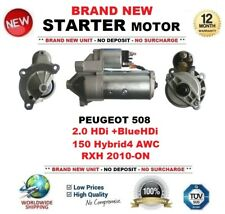 FOR PEUGEOT 508 2.0 HDi +BlueHDi 150 Hybrid4 AWC RXH 2010-ON STARTER MOTOR 13T