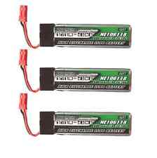 3x Blade 180QX Power Lipo Akku Battery 600mAh 1s 3,7V 600 mAh 35C-70C Boost