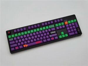 NEON GENESIS EVANGELION Keycap Mechanical Keyboard PBT OEM 104 Accessory Gifts