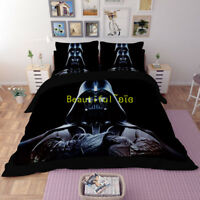 Black Star Wars Single/Double/Queen/King Size Bed Quilt/Doona/Duvet Cover Set