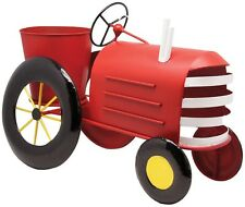 Alpine LYT272RD Metal Tractor Planter, Red