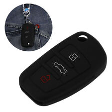 Black Remote Car Key Fob Shell Case Cover Protection Silicon For Audi A1 A3 A4