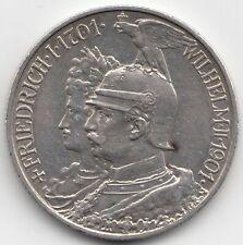 Münze 2 Mark 1901 A Kaiserreich 200 Jahre Preussen Wilhelm II. Silber Coin