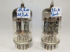 two 12AU7A ECC82 MAZDA short plates & short glass, mica spring on cathode