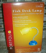 New  in Box Portfolio FISH  Desk Lamp Rotary on/off switch Item # 238081