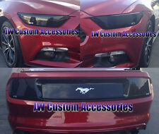 Fits 15-17 Ford Mustang V6 GT GTS Smoke Acrylic Headlight Taillight Covers 4pc