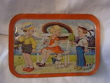 Vintage German Tin Toy Tray #Q