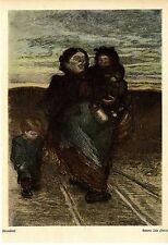 Mutter mit Kindern von Heinrich Zille Berlin Historischer Kunstdruck von 1906