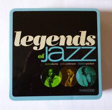 LEGENDS OF JAZZ - MILES DAVIS, JOHN COLTRANE & CHARLIE PARKER 3 CD SET - V.G.C.