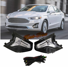 For Ford Fusion Mondeo 2019 2020 Front fog lamp Kit w/Bulb Switch Cable Bezel